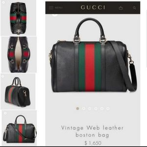 Authentic Gucci Wed Boston Bag